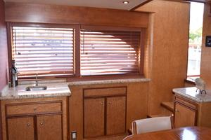 75' Burger Raised Pilothouse 1958 Wet Bar Next to Settee View to Starboard