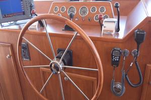 75' Burger Raised Pilothouse 1958 Helm Detail