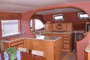 75' Burger Raised Pilothouse 1958 Full Galley View from Entry Way