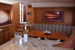75' Burger Raised Pilothouse 1958 Galley to Settee View