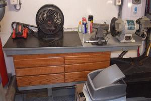 75' Burger Raised Pilothouse 1958 Workbench in Engine Room