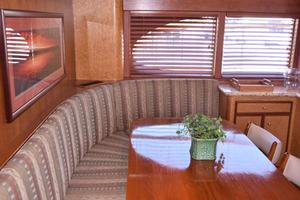 75' Burger Raised Pilothouse 1958 Settee to Port in Galley