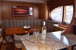 75' Burger Raised Pilothouse 1958 Galley to Settee with Port View