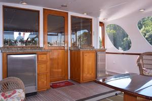 75' Burger Raised Pilothouse 1958 Aft Deck with Bulkhead