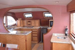 75' Burger Raised Pilothouse 1958 Full Galley Entry View from Wheelhouse