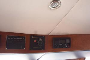 75' Burger Raised Pilothouse 1958 Electronics at Helm Detail