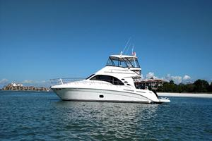 Sea-Ray-550-Sedan-Bridge-2005-March-Madness-Pompano-Beach-Florida-United-States-Port-Side-View-on-Water-277921