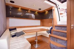 48' Azimut 48 ATLANTIS 2013 Salon Settee with Stairs Leading to Helm