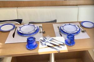 48' Azimut 48 ATLANTIS 2013 Table Set Featuring Azimut Flatware
