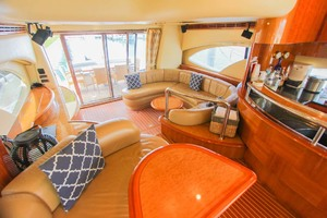 62' Azimut 62 Flybridge 2007 Main Salon Aft