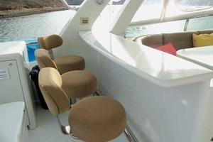 81' Cheoy Lee Bravo 81 2002 Flybridge Aft Bar Seating