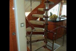 81' Cheoy Lee Bravo 81 2002 Flybridge Stairs