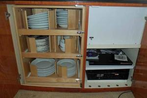 81' Cheoy Lee Bravo 81 2002 Salon Galley Ware Storage