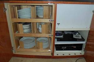81' Cheoy Lee Bravo 81 2002 Salon Galley Ware Storage
