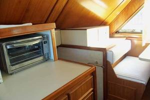 60' Hatteras Convertible/Enclosed FB 1979 Galley to Starboard