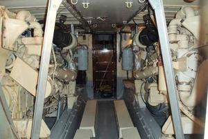 60' Hatteras Convertible/Enclosed FB 1979 Engine Room Looking Aft