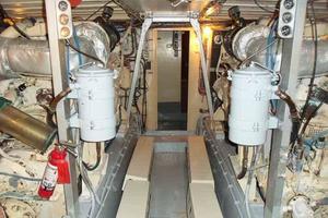 60' Hatteras Convertible/Enclosed FB 1979 Engine Room Looking Forward