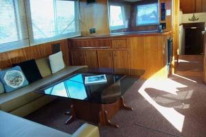 60' Hatteras Convertible/Enclosed FB 1979 Salon to Port