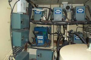 60' Hatteras Convertible/Enclosed FB 1979 AC Compressors in Equipment Room