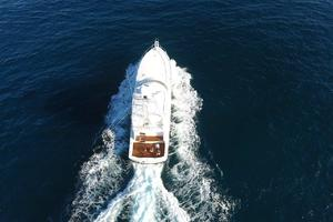 76' Viking 76 Enclosed 2010 Overhead Drone View