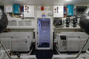 76' Viking 76 Enclosed 2010 Engine Room Aft, Generators