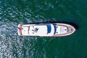 97' Vicem Motor Yacht 2007 Aerial Shot