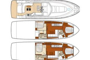 54' Sea Ray 540 Sundancer 2011 preferred two-cabin layout