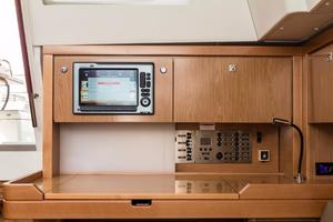 50' Beneteau Sense 50 2012 Nav Station with Chartplotter repeater