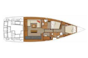 50' Beneteau Sense 50 2012 Manufacturer Provided Image: 2 Cabin Layout