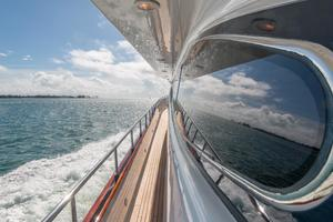 108' Viking Sport Cruisers  2002 Port Side Deck