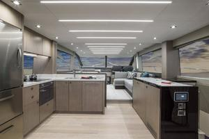 66' Sunseeker Manhattan 66 2018 Manufacturer Provided Image: Sunseeker Manhattan 66 Galley