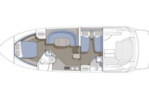 46' Sunseeker Portofino 46 2005 Manufacturer Provided Image: Accommodation Layout