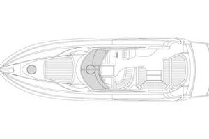 46' Sunseeker Portofino 46 2005 Manufacturer Provided Image: Deck Layout