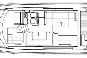 53' Sunseeker Predator 53 2013 Manufacturer Provided Image: Sunseeker Predator 53 Main Deck Layout Plan