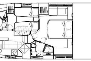 53' Sunseeker Predator 53 2013 Manufacturer Provided Image: Sunseeker Predator 53 Lower Deck Layout Plan