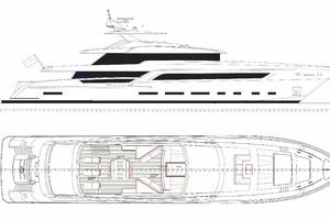 154' Hull #1 Motor Yacht 2019 General Arrangement