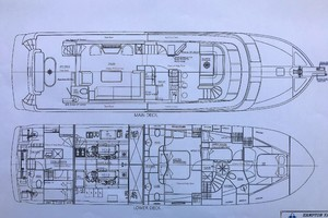 65' Hampton Endurance 658 2017 Deck Plans