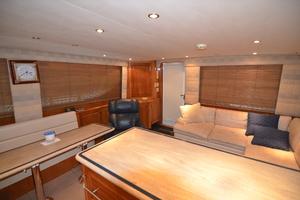 55' Hatteras 55 Convertible 2000 Galley countertops, salon sofa