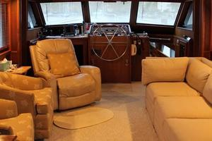 53' Hatteras Motoryacht 1984 Salon Looking Forward