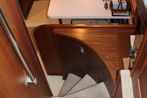 53' Hatteras Motoryacht 1984 Stairs to Galley and Cabins