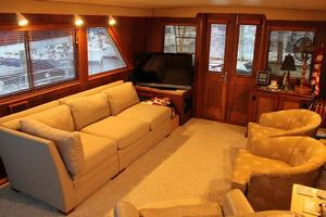 53' Hatteras Motoryacht 1984 Salon Looking Aft