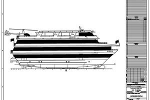 128' Custom Keith Marine Dinner Boat 2006 Rendering