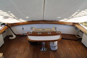 54' Rybovich Convertible 1970 Cockpit