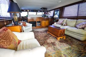 54' Hatteras Motor Yacht 1987 Salon Looking Fwd