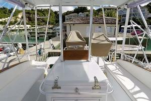 51' Buddy Davis 51 Custom Carolina Sportfish 1988 Flybridge Looking Aft