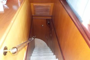 72' Custom Carolina Motor Yacht 2000 Stairs to Lower Deck
