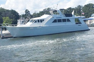72' Custom Carolina Motor Yacht 2000 Port View
