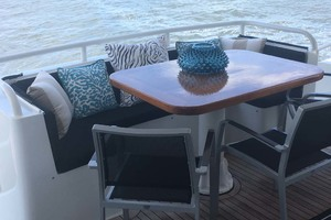 72' Custom Carolina Motor Yacht 2000 Aft Deck Seating