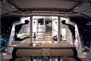 156' Pendennis High Performance Motorsailer 2004 Deck at night