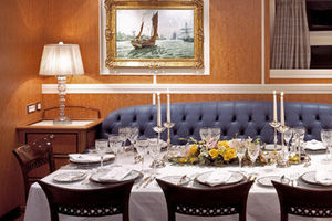 156' Pendennis High Performance Motorsailer 2004 Dining